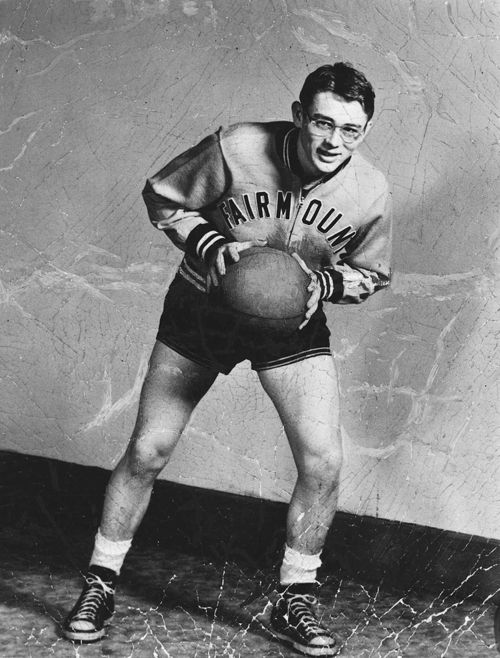 James Dean playing basketball