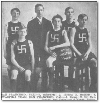 swazika basketball team from 1909 San Francisco