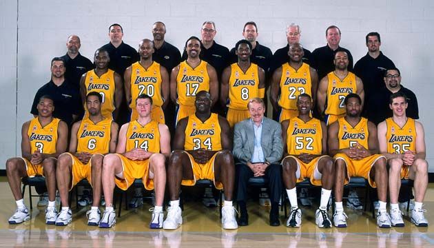 2002 NBA Champion Los Angeles Lakers