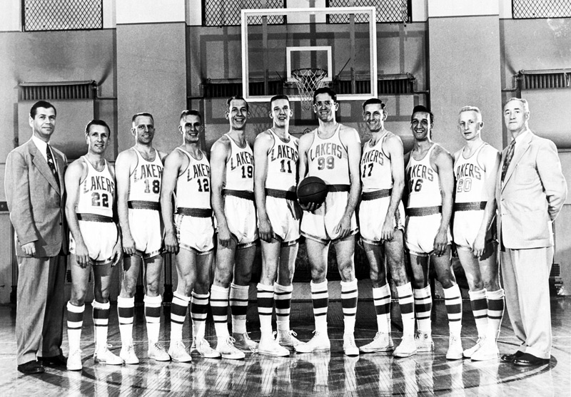 50e261e1d 1953 NBA Champion Minneapolis Lakers